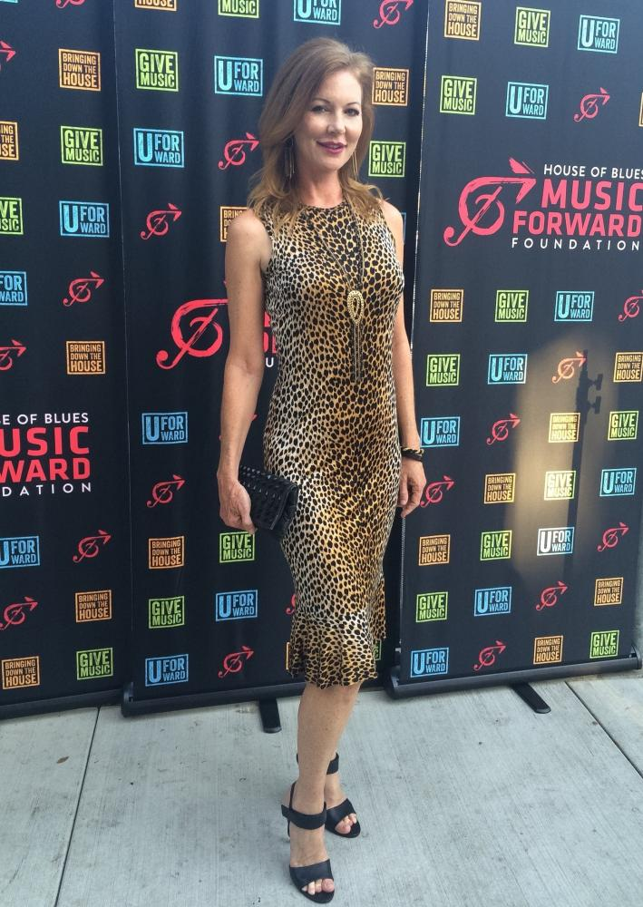 Cynthia Basinet Attends House of Blues Music Forward Studios Opening Ceremony