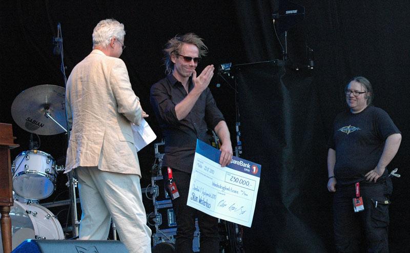 Stian Westerhus Receives Sparebank 1 Jazztipendiat 2010, Molde Jazz 2010
