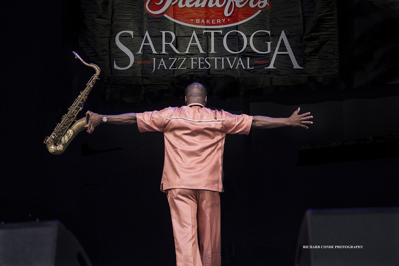 James Carter at the Saratoga Jazz Festival