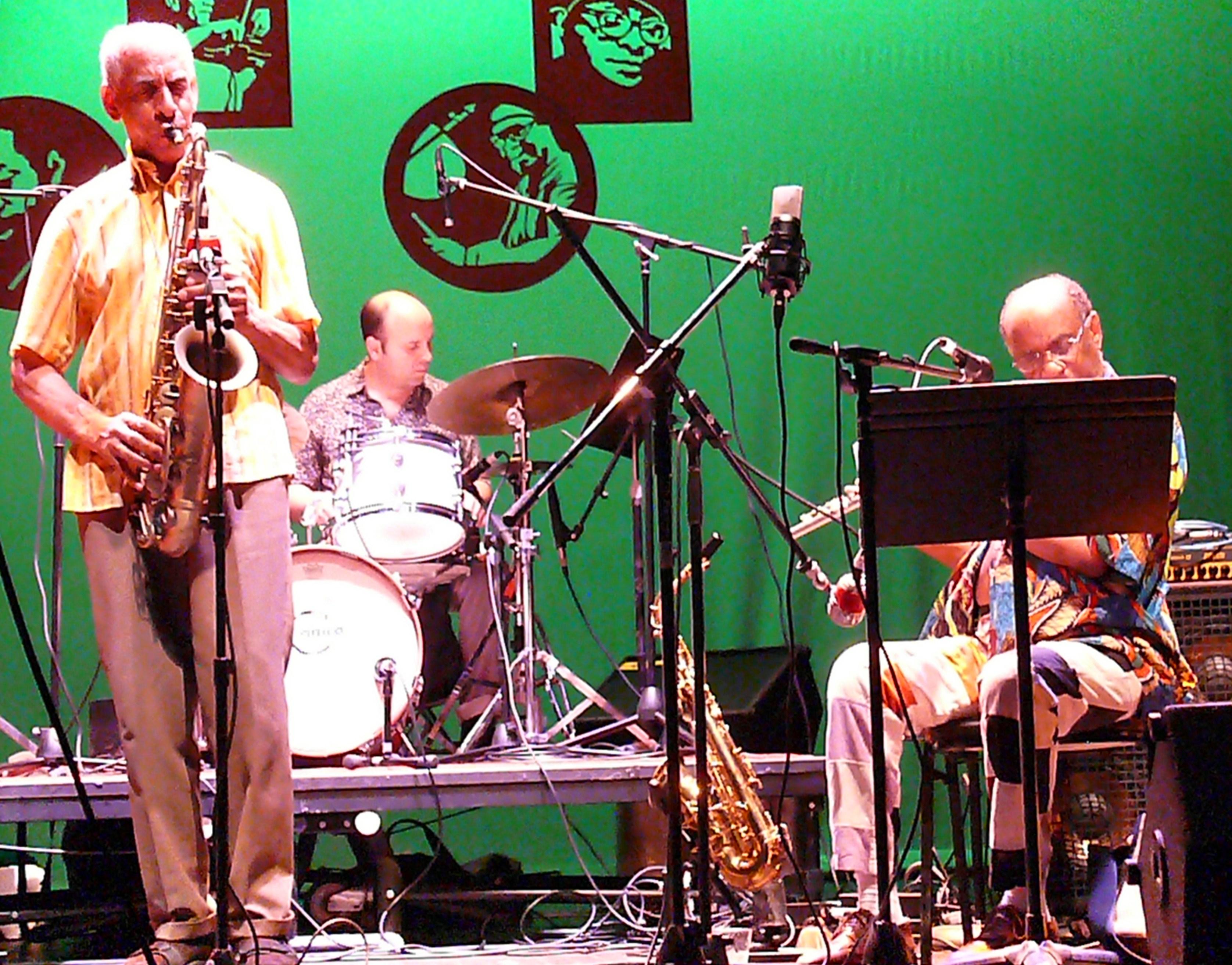 John Tchicai, Rob Garcia and Joseph Jarman at Vision Festival 2010