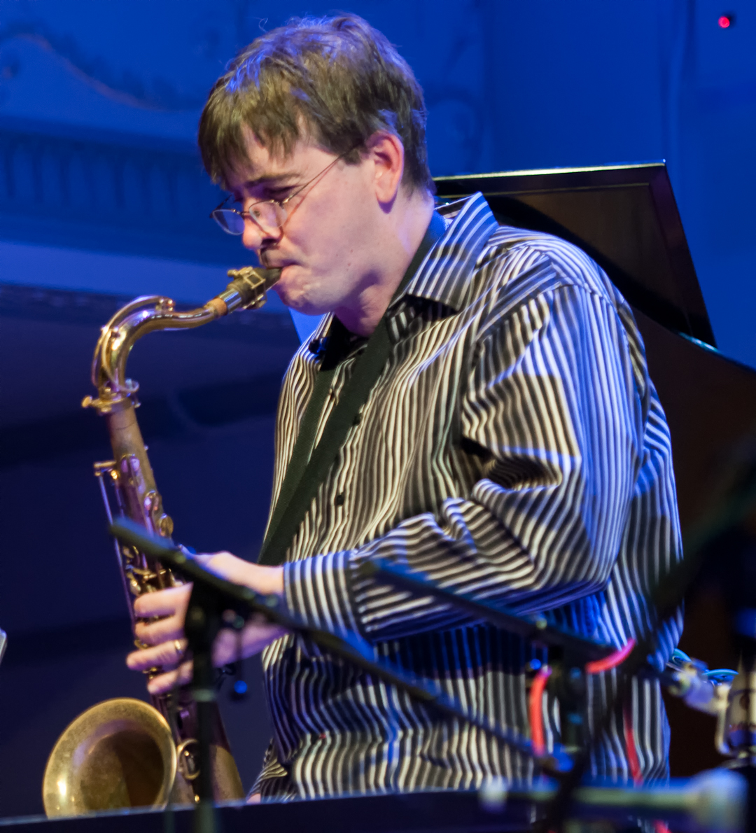 Mike Lee with the Oliver Lake Big Band at Roulette