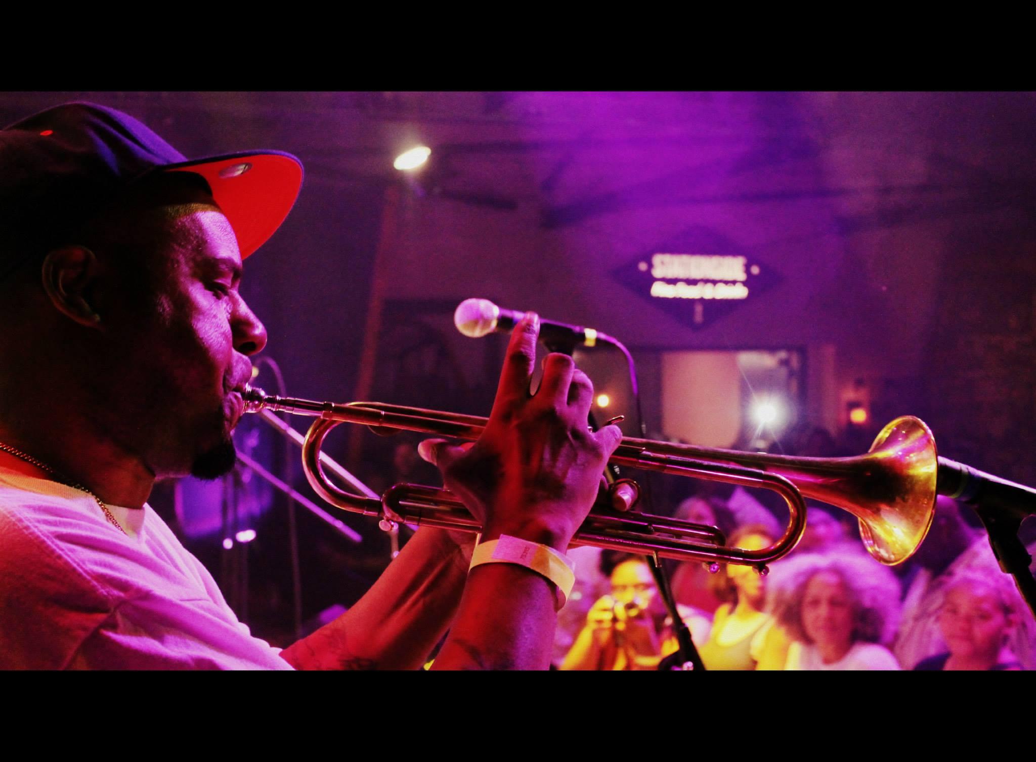 Russell Gunn on Trumpet