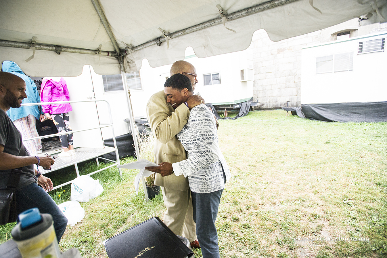 Christian McBride and Christian Sands at the 2017 Newport Jazz Festival