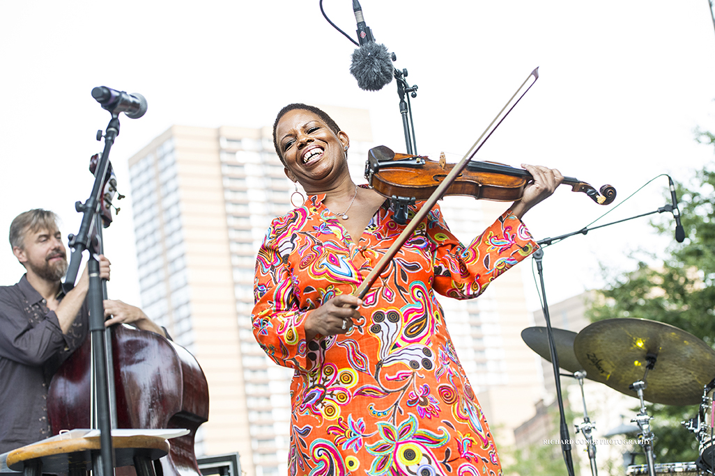 Regina Carter at the 2017 Detroit Jazz Festival