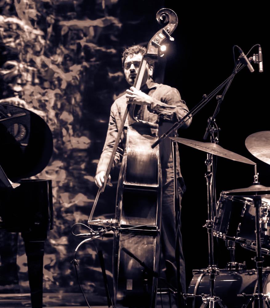 Harish Raghavan with the Ambrose Akinmusire Quartet at The Montreal International Jazz Festival 2017
