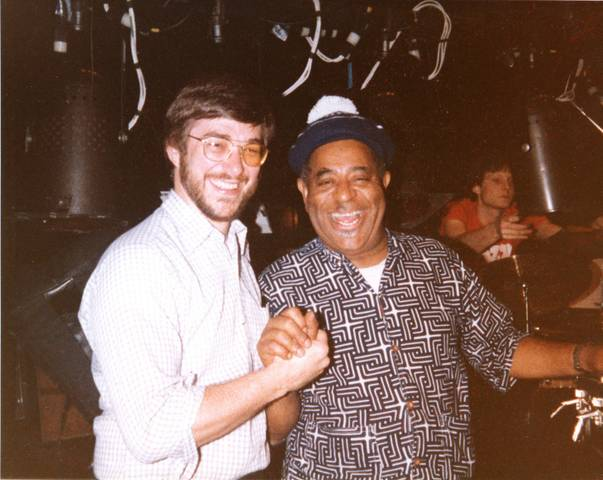 Tom Everett and Dizzy Gillespie, Mid 80's