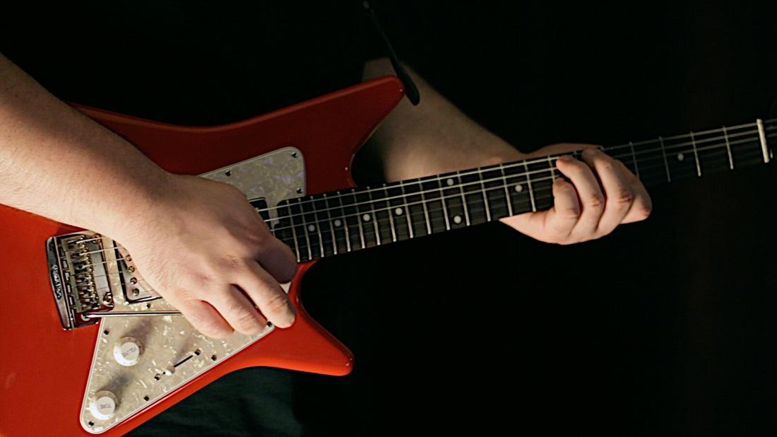 Red Guitar - Chris Blackwell - Guitar (the Rocktronix)