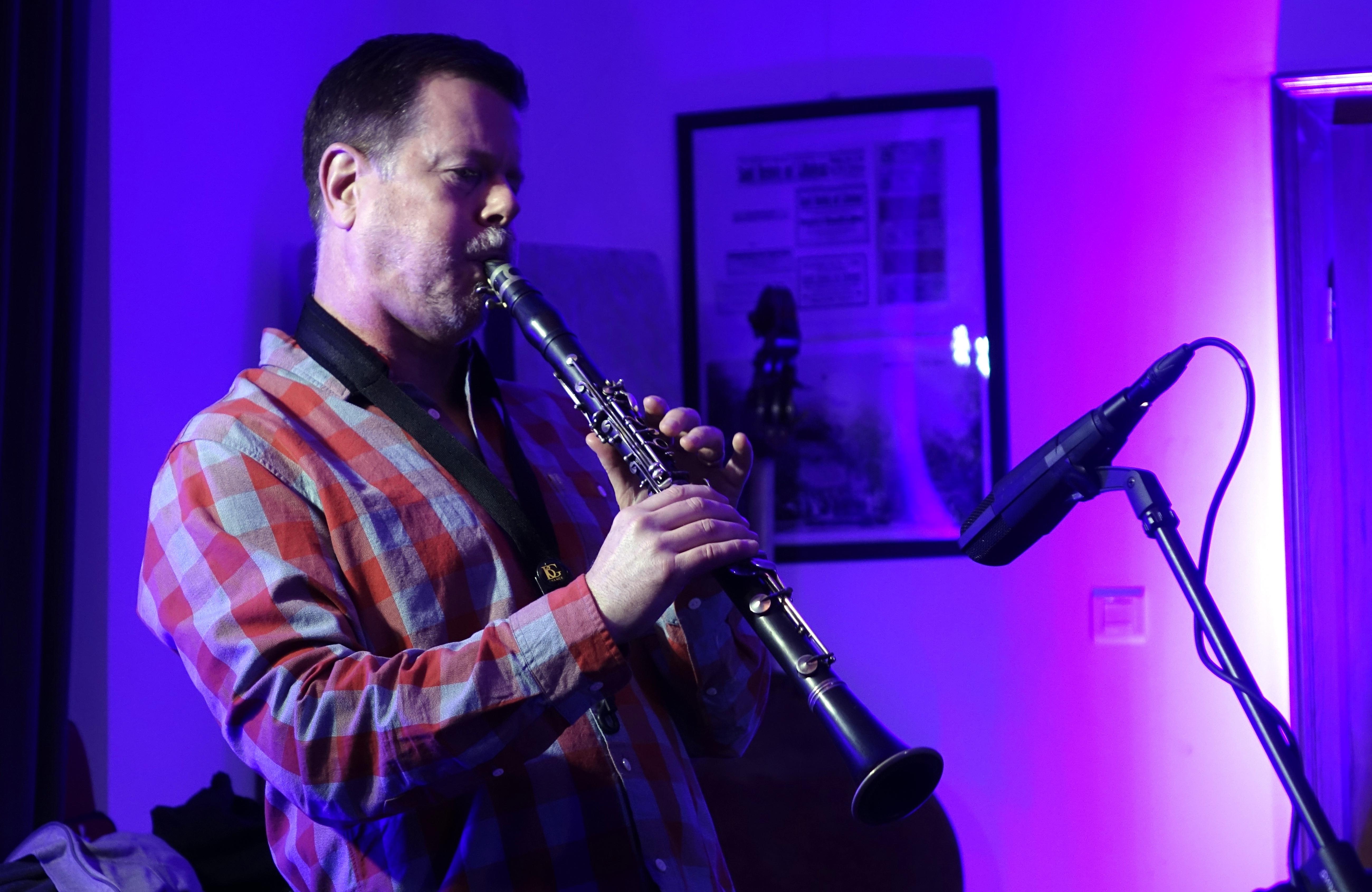 Ken Vandermark at Wlen, Poland on 23 September 2018