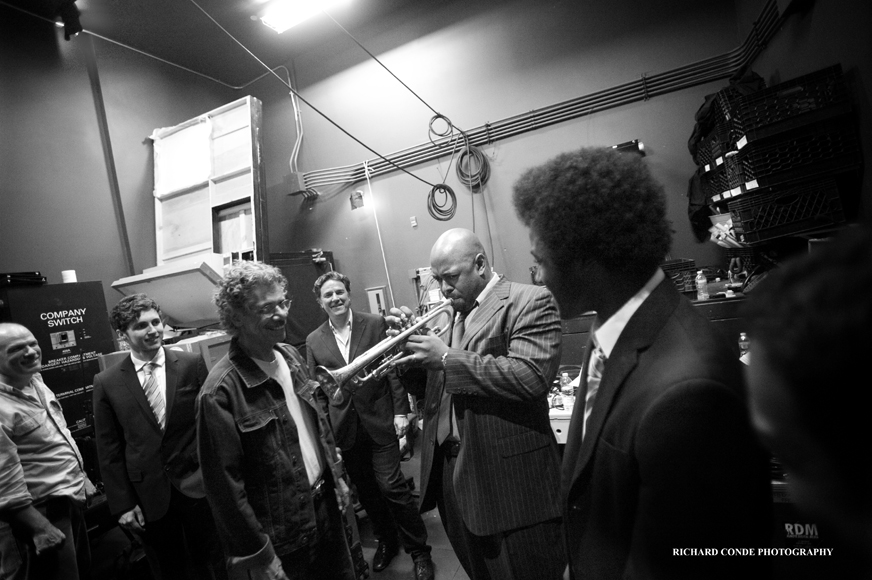 "Chick Corea & Christian Mcbride Backstage At Jazz House's ""inside The Jazz Note,"" 2011"