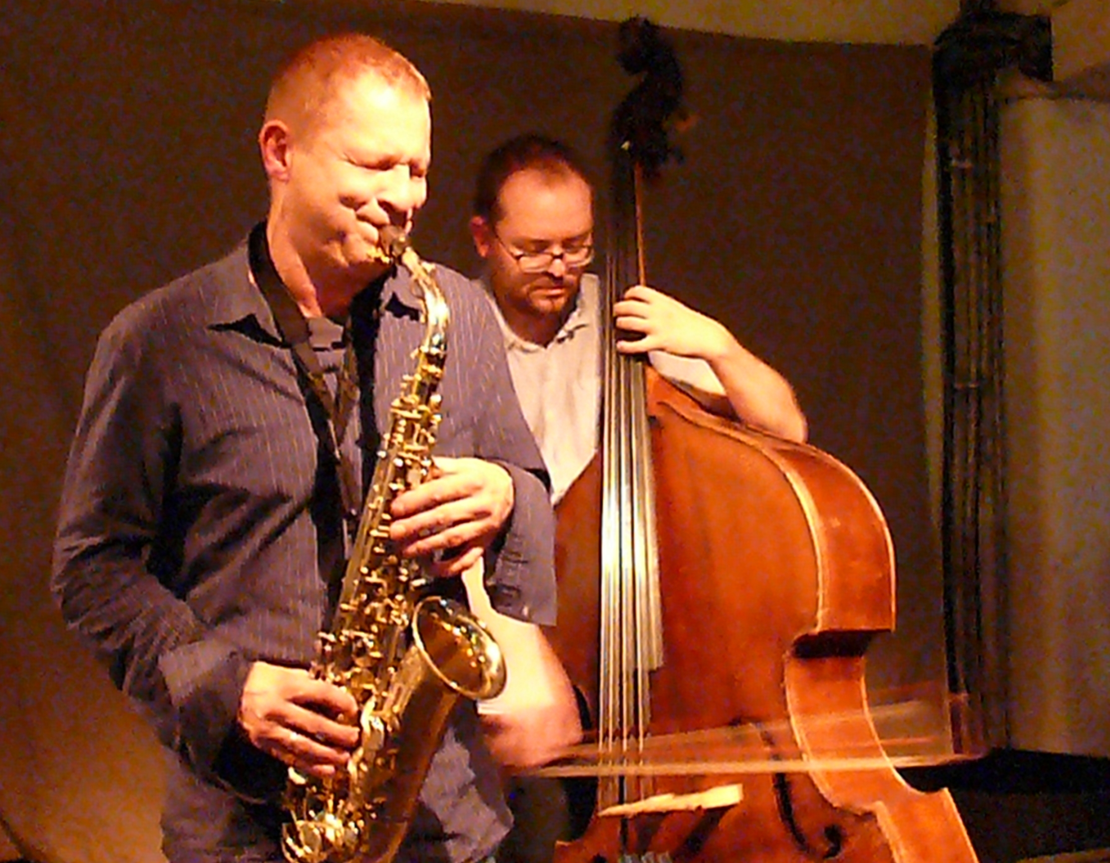 Mikolaj Trzaska and Olie Brice at Cafe Oto, London, October, 2012