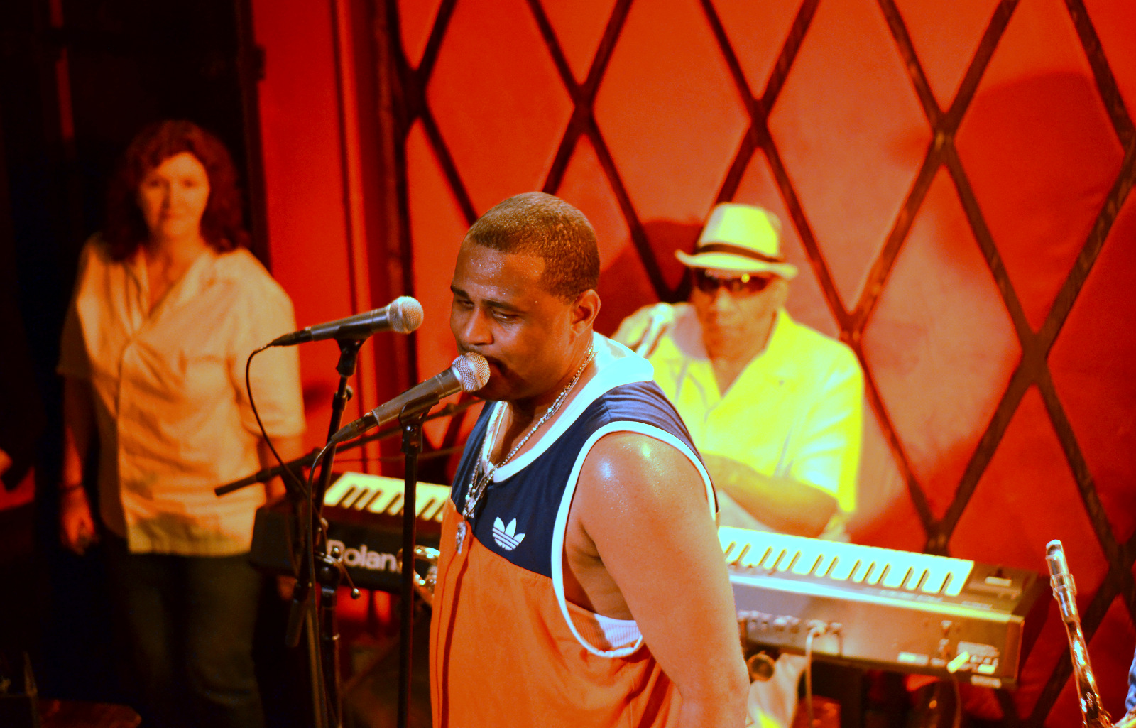 Glen David Andrews at Rockwood Music Hall in Nyc on 6-18-14
