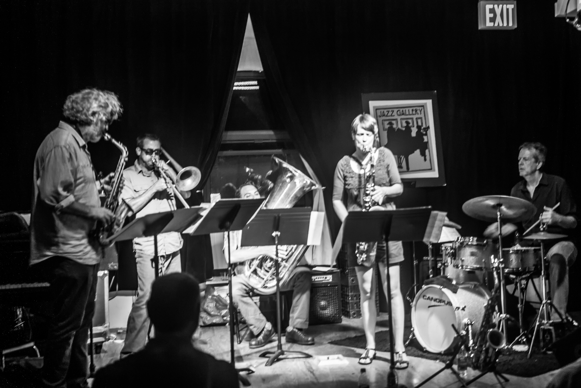 Tim Berne, Ben Gerstein, Dan Peck, Ingrid Laubrock and Tom Rainey at the Jazz Gallery in New York City