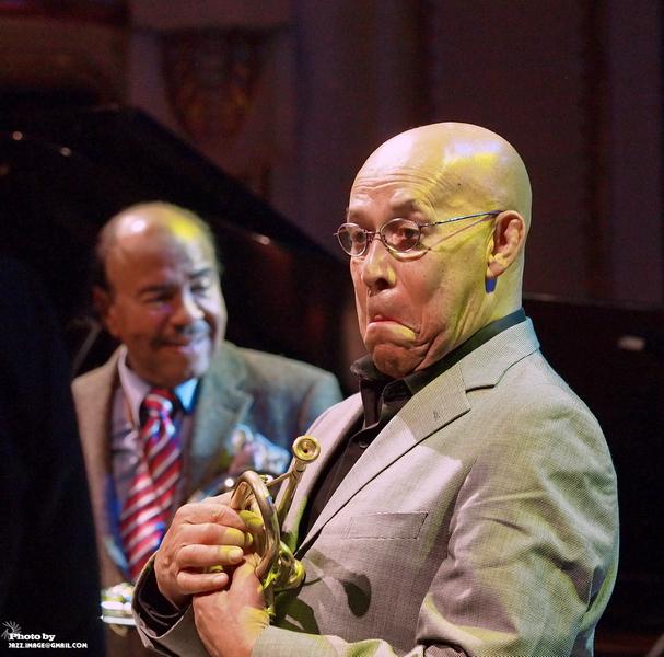 Eddie Henderson, Performing with Beny Golson at Jazz Festival Zadymka Jazzowa, Bielsko-Biala, Poland. 2013