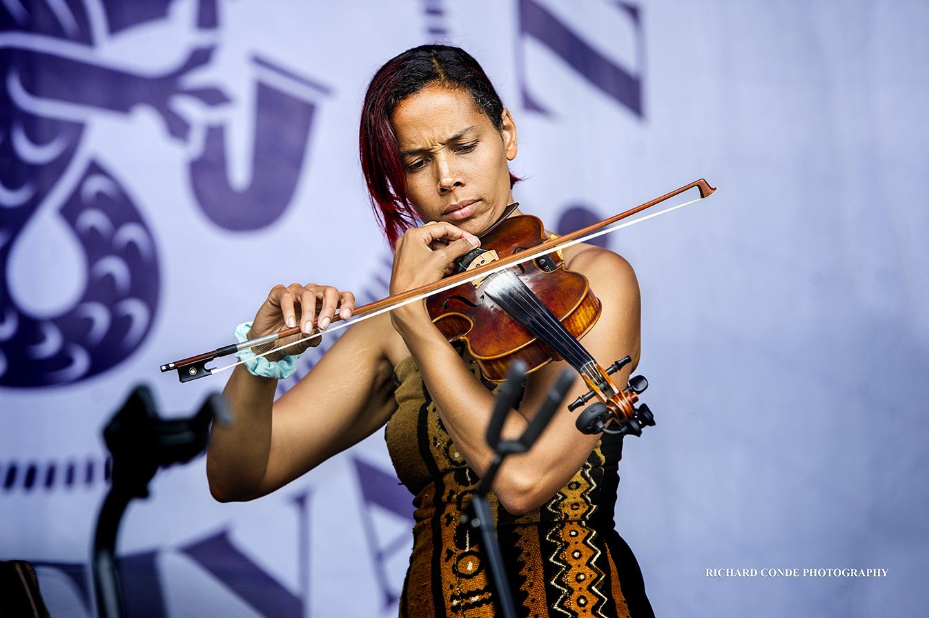Rhiannon Giddens At The 2017 Newport Jazz Festival