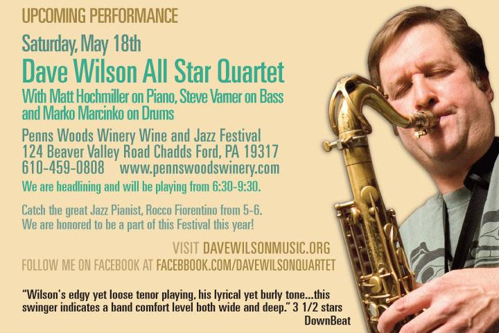 Dave wilson all star quartet at the penns woods winery
