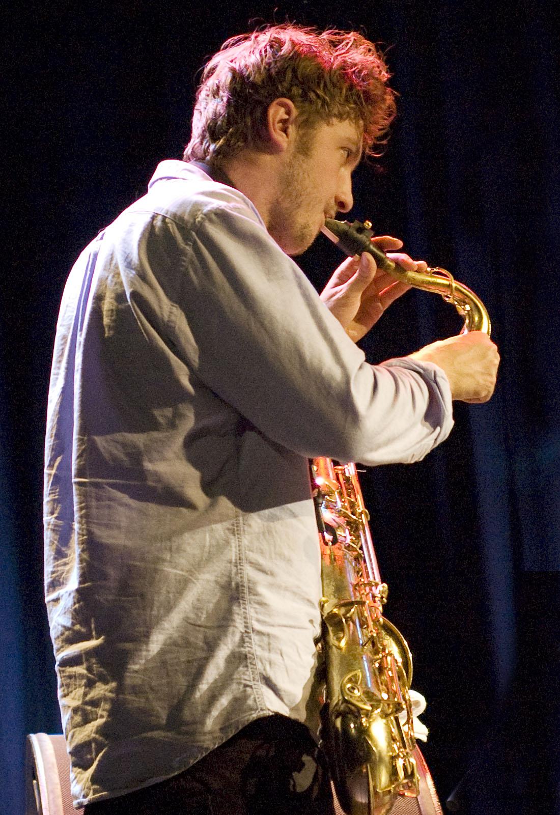 Jack Wyllie of Portico Quartet, L'Astral, Montreal, Canada 10/02/2010
