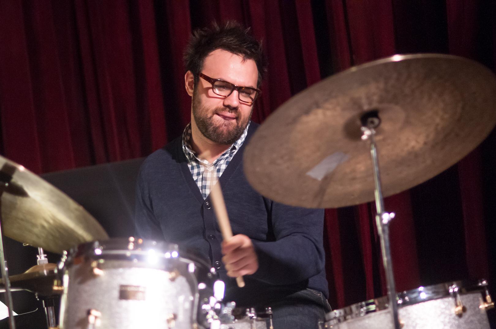 Colin Stranahan with the Melissa Aldana Quartet at the Jazz Gallery
