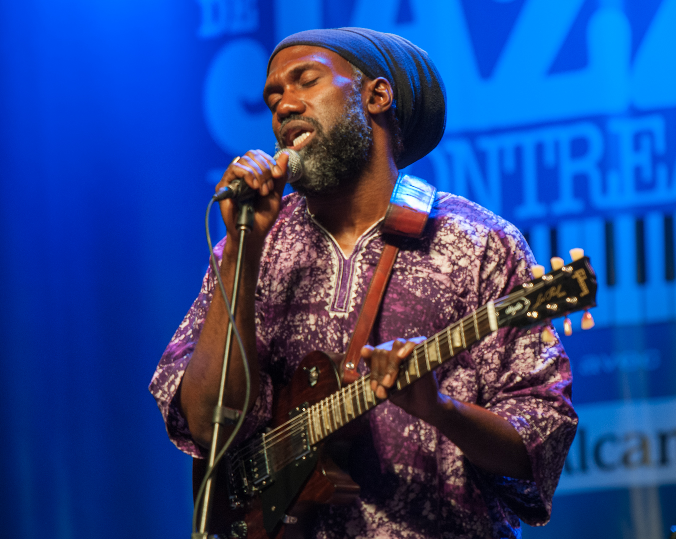 Corey Harris with the Rasta Blues Experience at the Montreal International Jazz Festival 2012