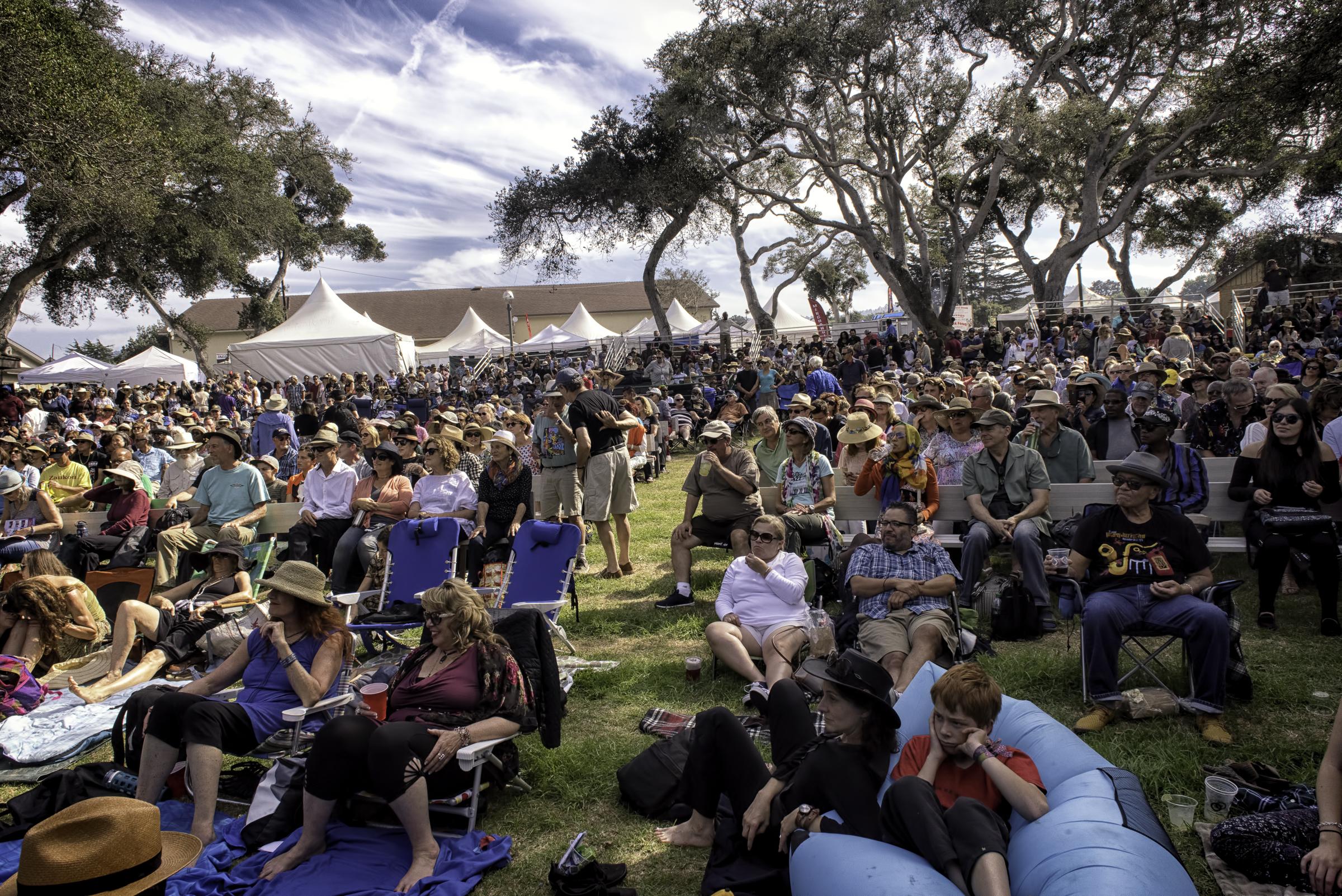 Fairgrounds at the Monterey Jazz Festival