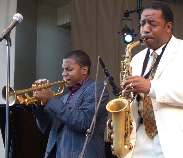 2006 Chicago Jazz Festival, Sunday: Christian Scott (Left) and Donald Harrison