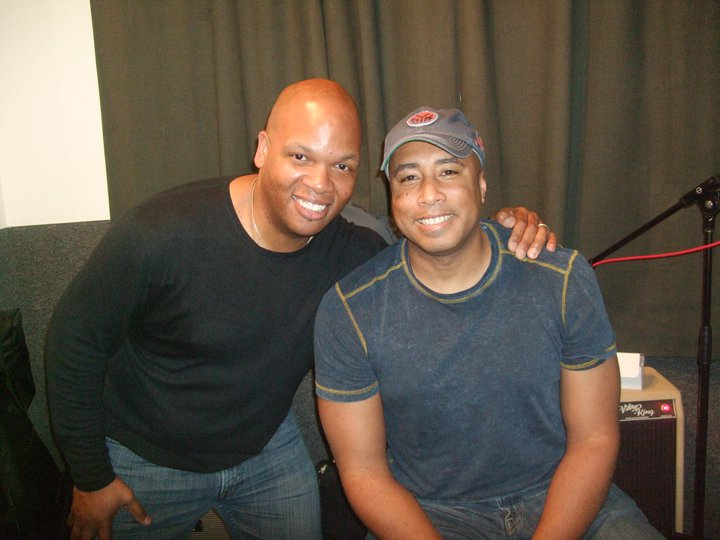 Mark Peterson and Bernie Williams at Bass Day, 2010, NYC