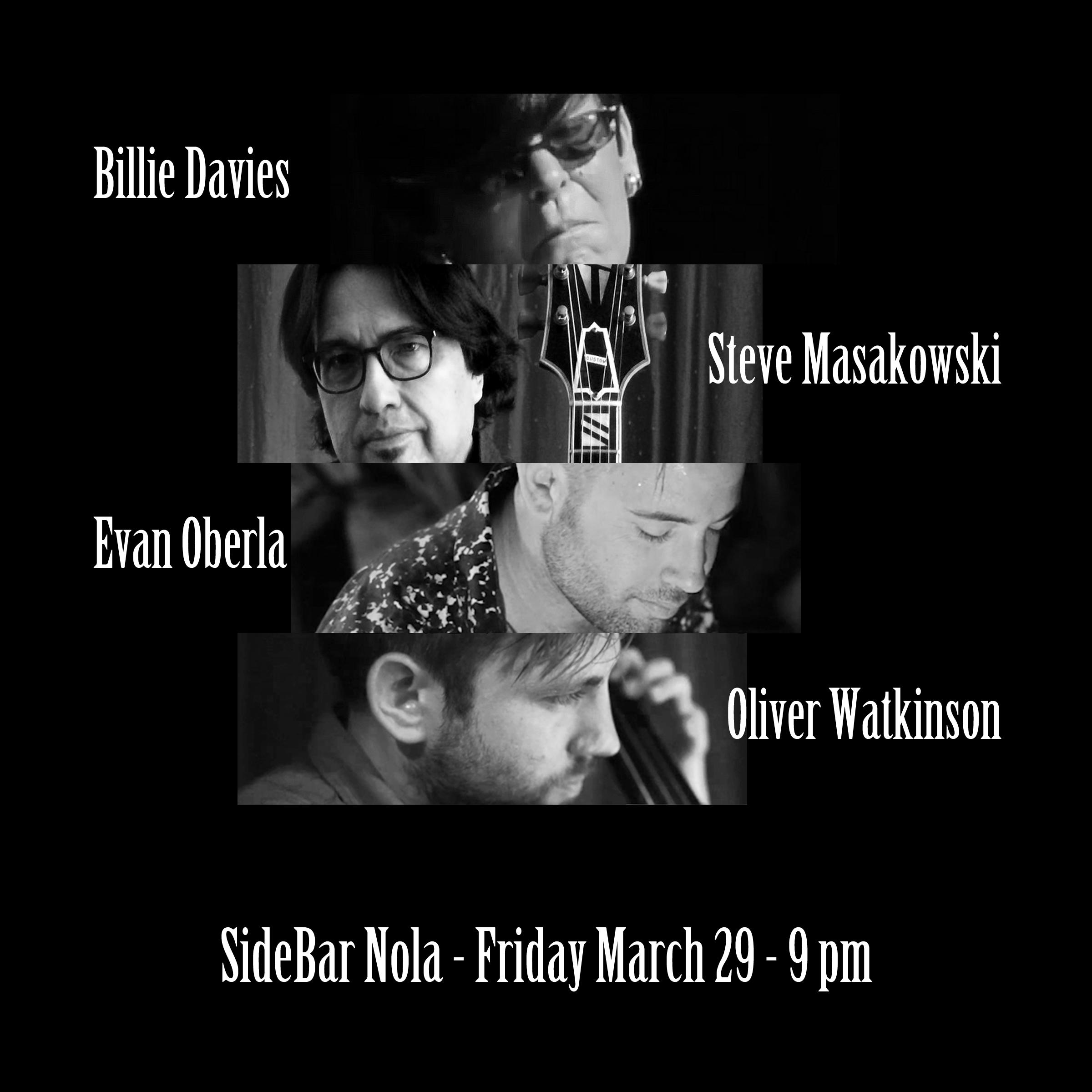 Billie Davies Trio with Steve Masakowski