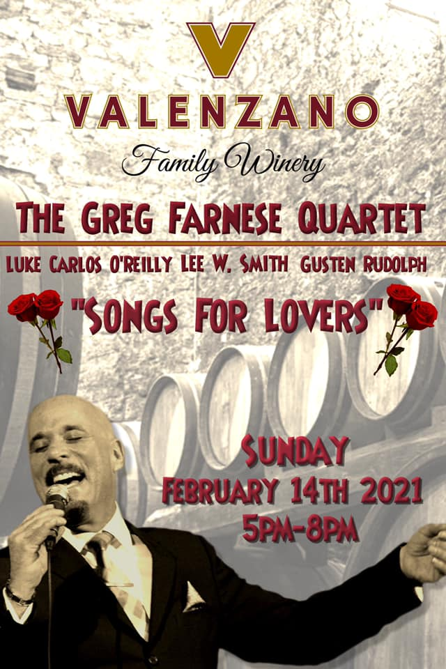 """""""songs For Lovers"""" With The Greg Farnese Quartet"""