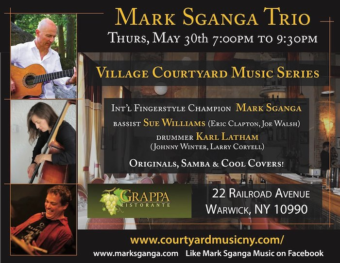 Mark Sganga Trio - Jazz At Warwick Village Courtyard!