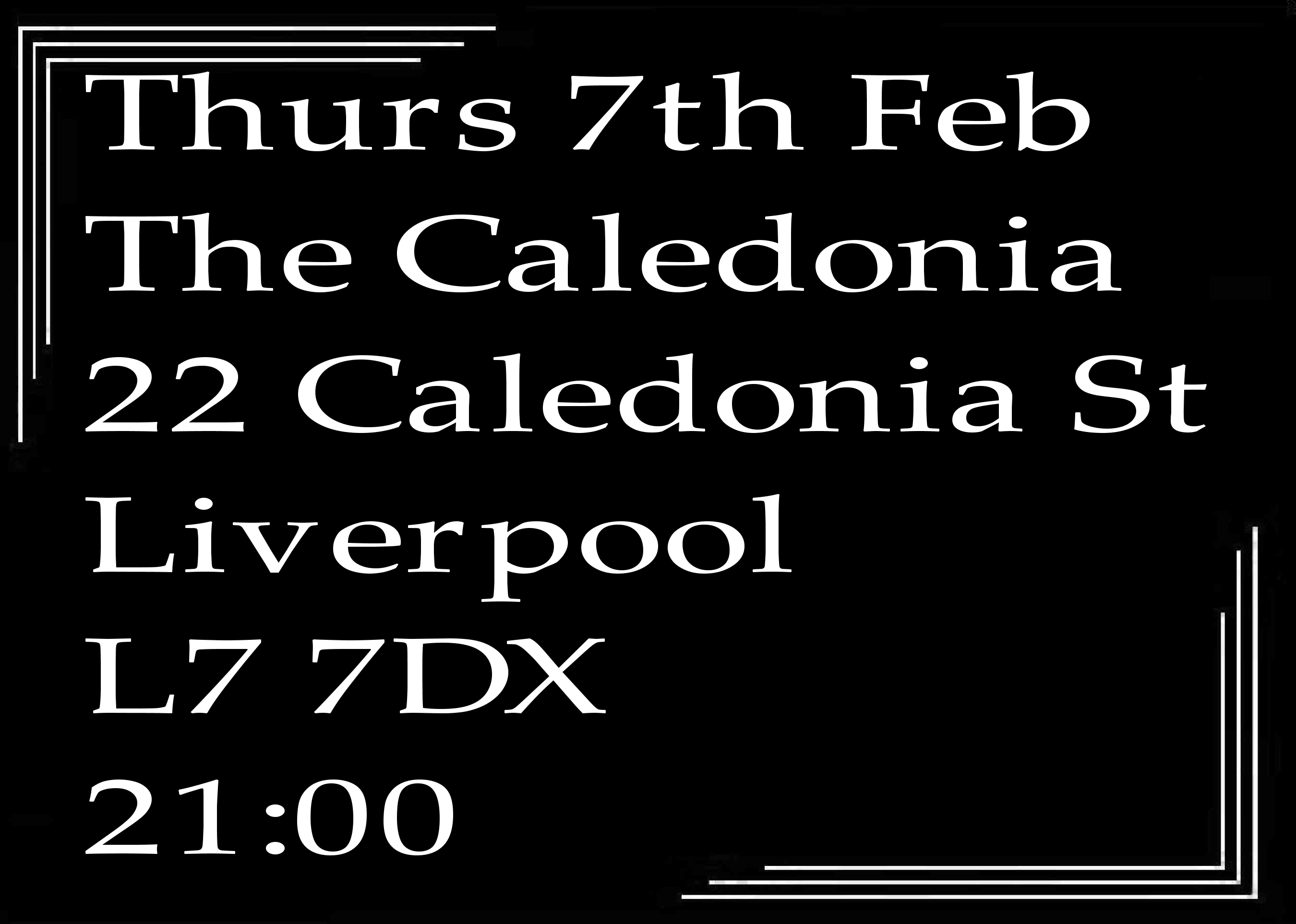 Speakeasy Bootleg Band At The Caledonia Thurs 7th Feb 2019