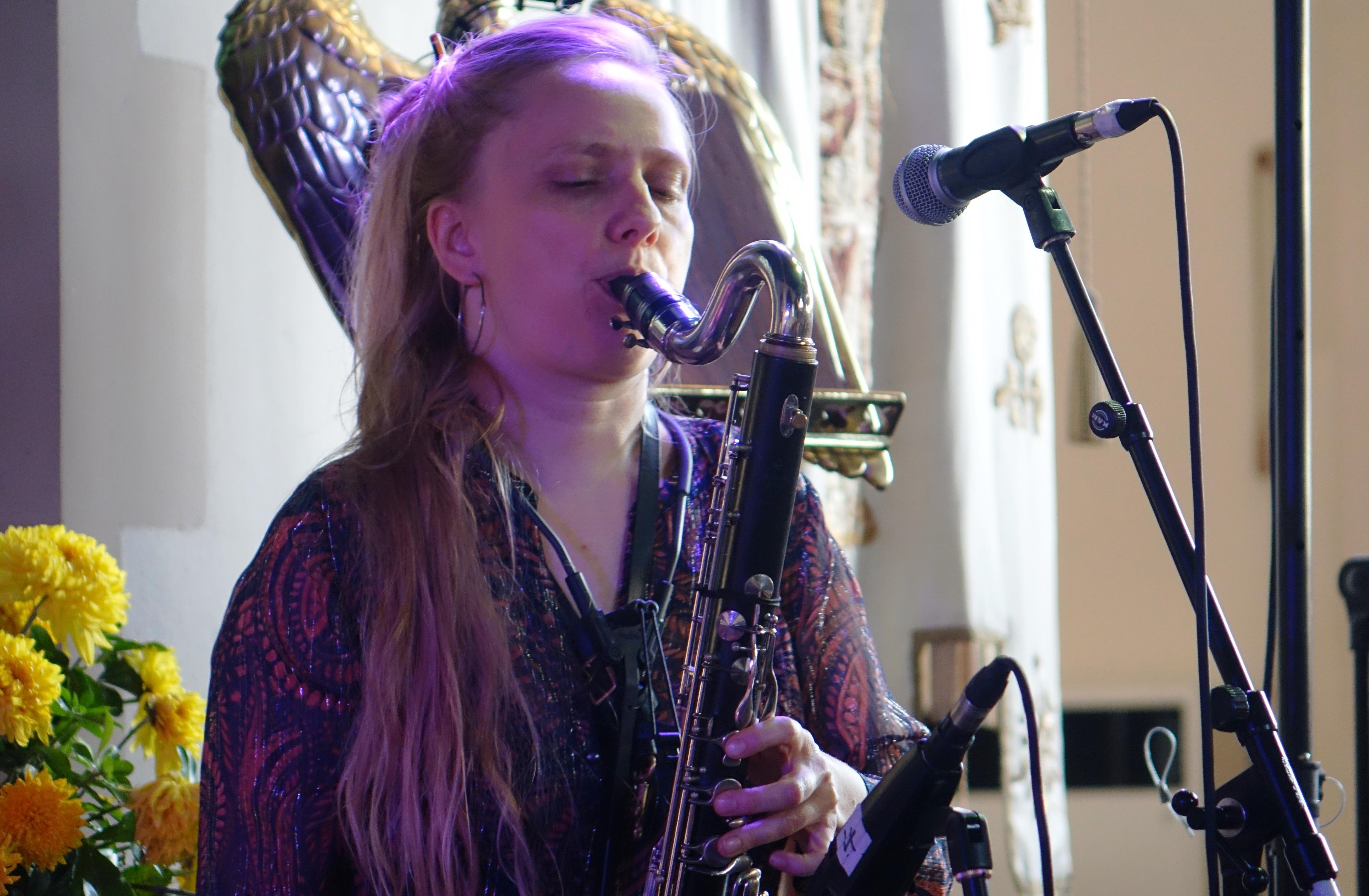Julie Kjaer at Brighton Alternative Jazz Festival in October 2018