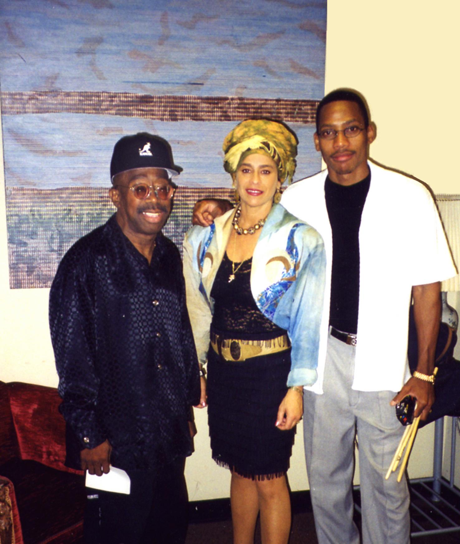 Michele Rosewoman with Master Orlando 'Puntilla' Rios and Pedrito Martinez