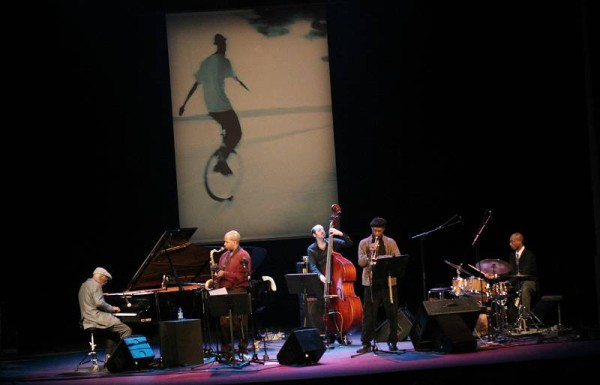 """Andrew Hill, Greg Tardy, John Hebert, Charles Tolliver and Eric McPherson with the """"Andrew Hill Quintet"""" at the Amr Jazz Festiva"""