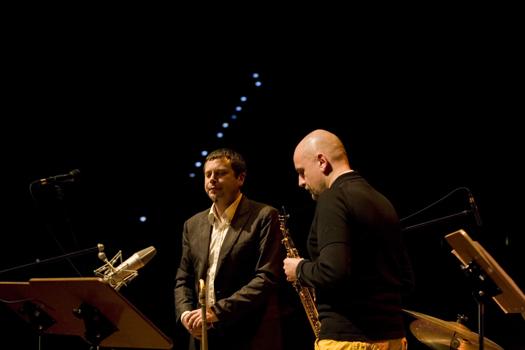 Adrian Mears &Amp; Adam Pieronczyk of Anthony Cox Quartet - Gdansk in Jan. 2008