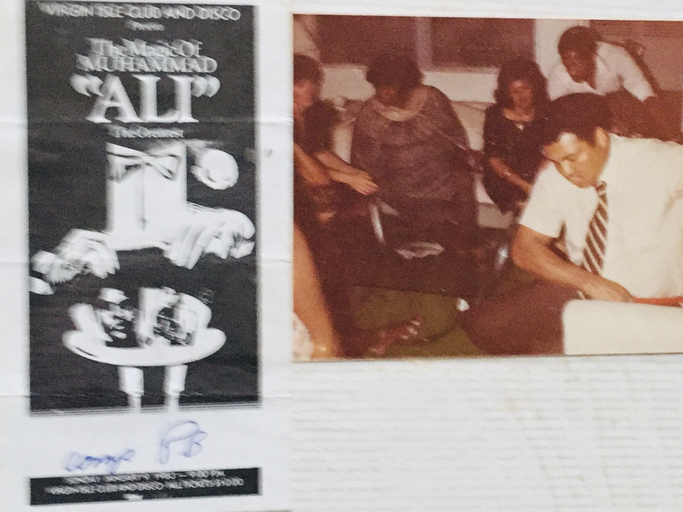 Margie Evans on the Virgin Islands Tour with Muhammad Ali