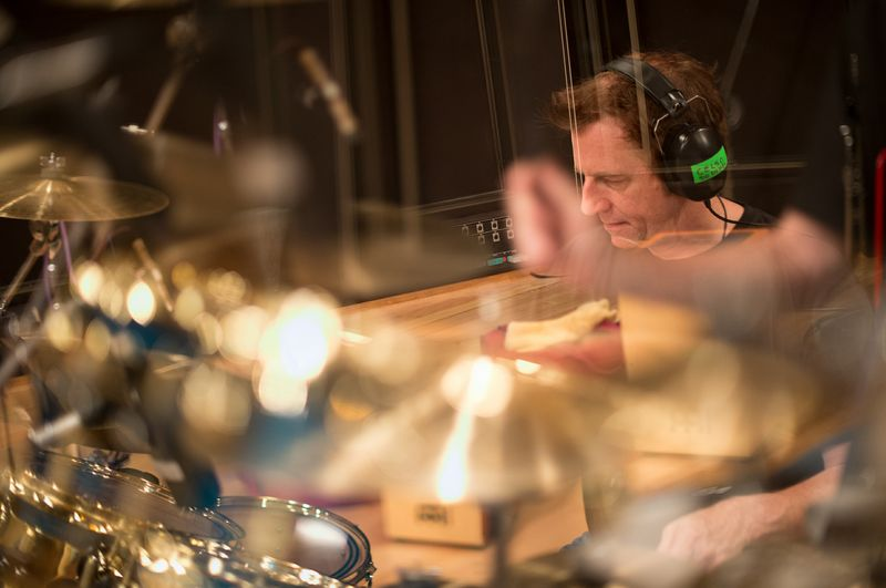 """Celso Alberti recording with Shambhu on """"Dreaming of Now"""""""