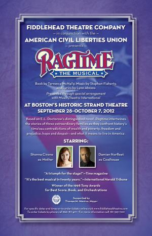 Fiddlehead Theatre And The ACLU Present Ragtime Sept. 28 - Oct. 7, 2012