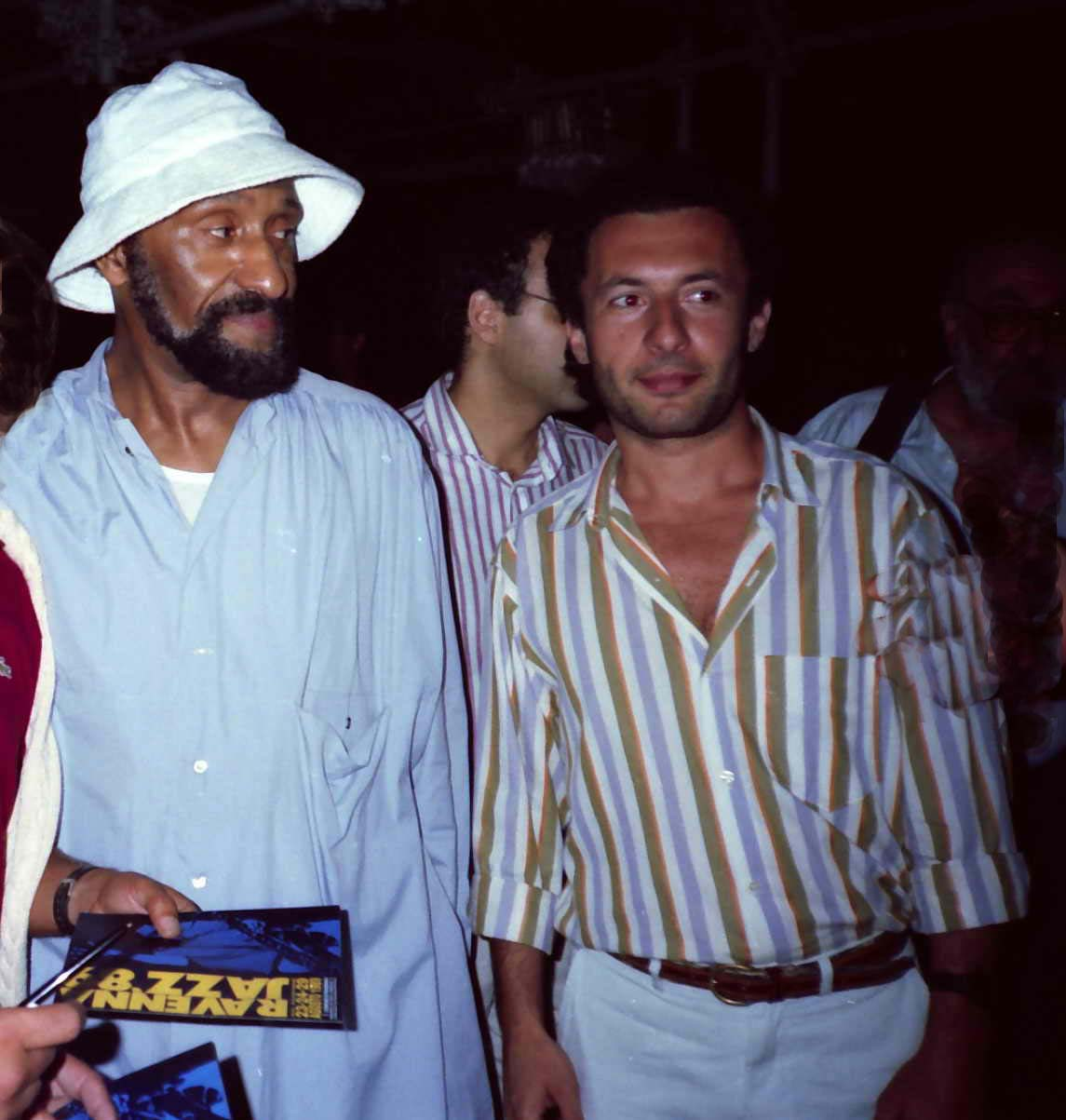 with Sonny Rollins, 1987