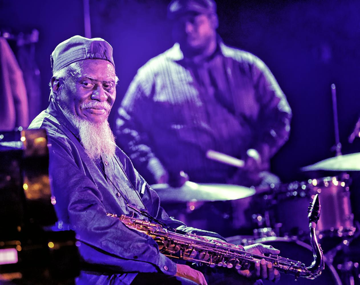 Pharoah Sanders and Johnathan Blake at The NYC Winter Jazzfest 2017
