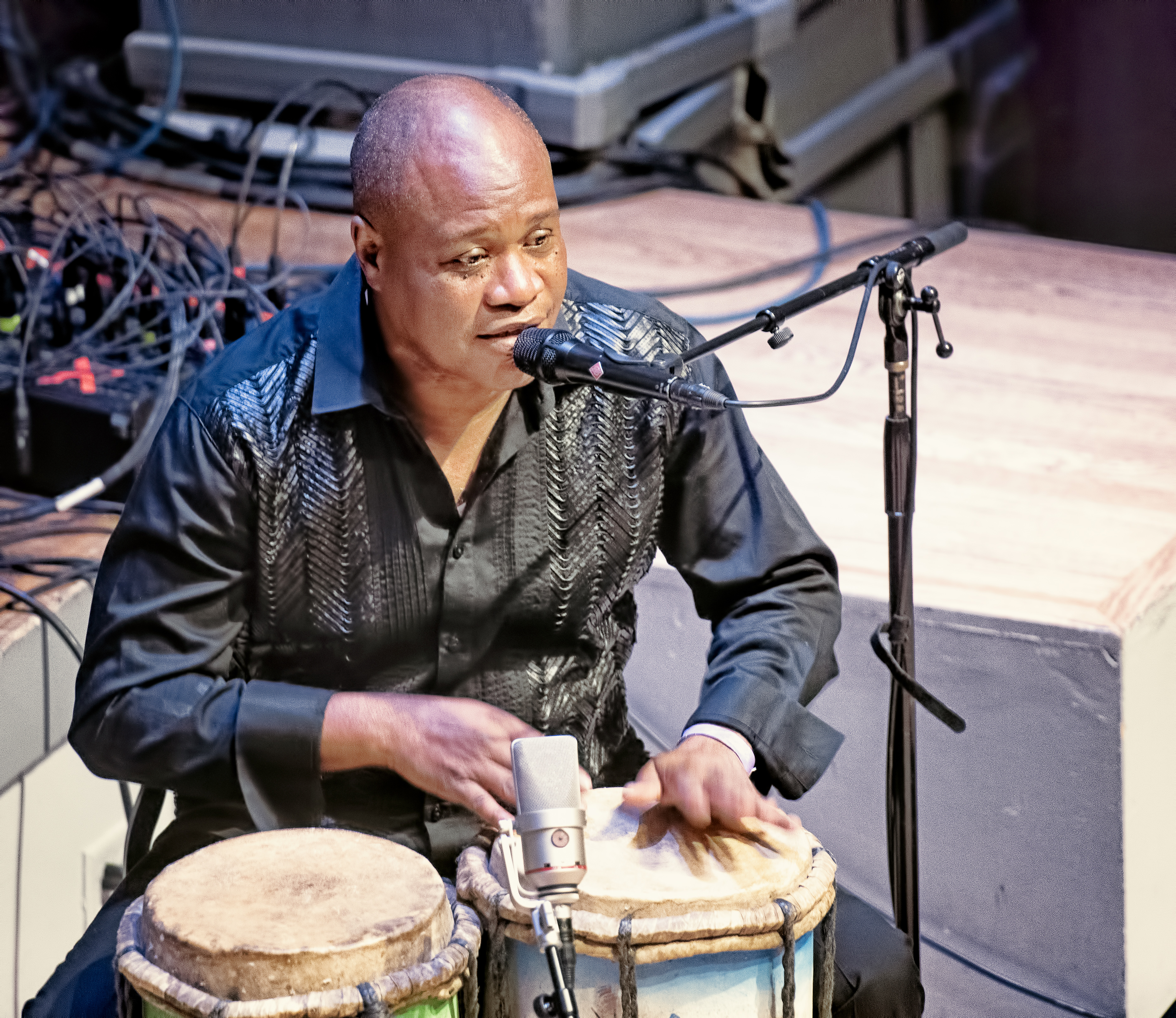 Jean Guy Rene with Andrew Cyrille and Haitian Fascination At the Vision Festival 2019
