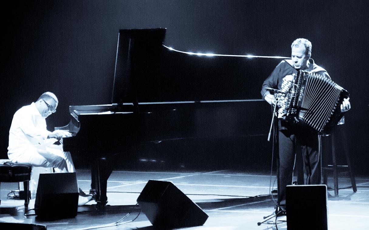 Gonzalo Rubalcaba and Richard Galliano at the Montreal International Jazz Festival