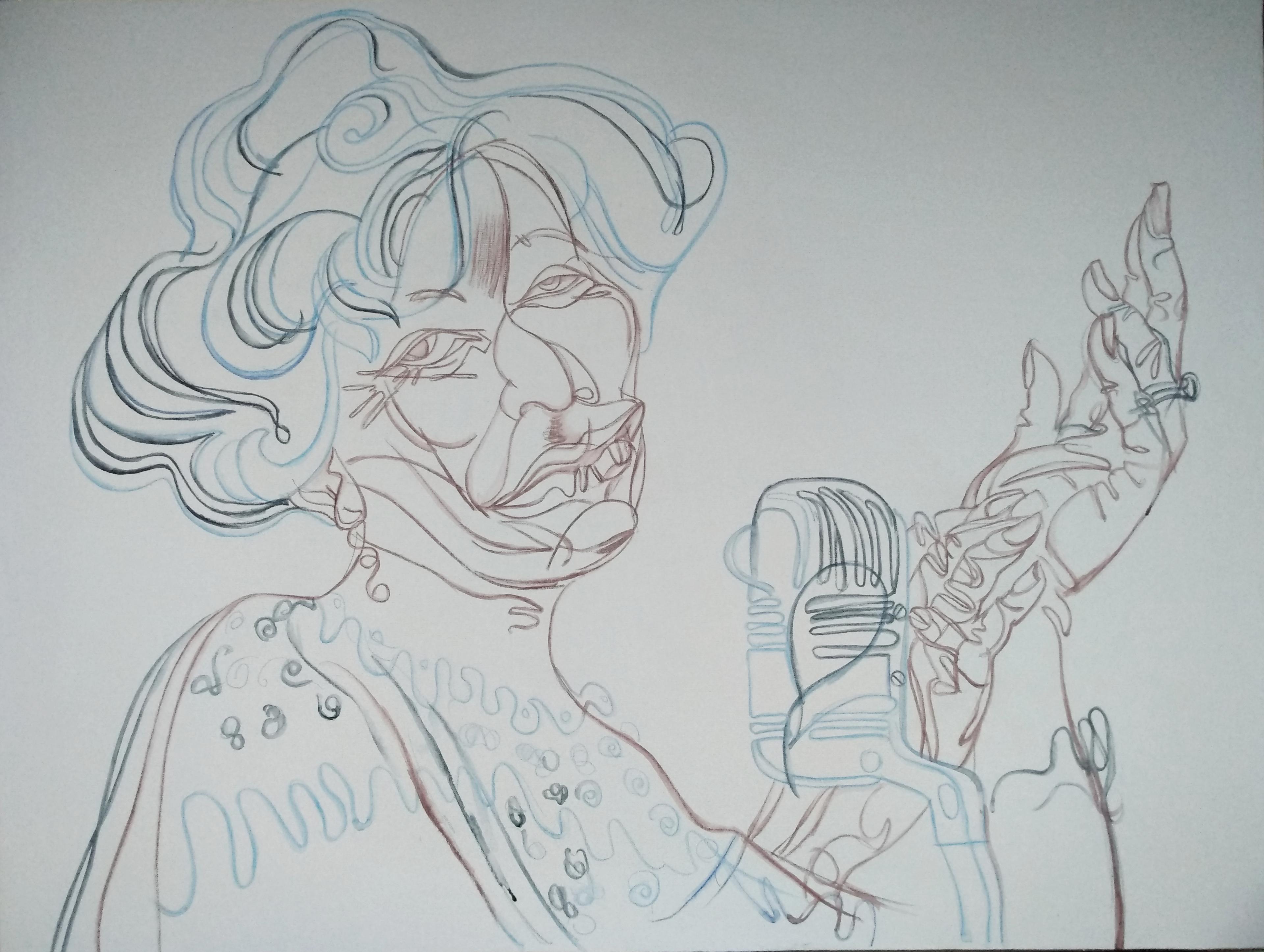 ELLA FITZGERALD (preparatory drawing)