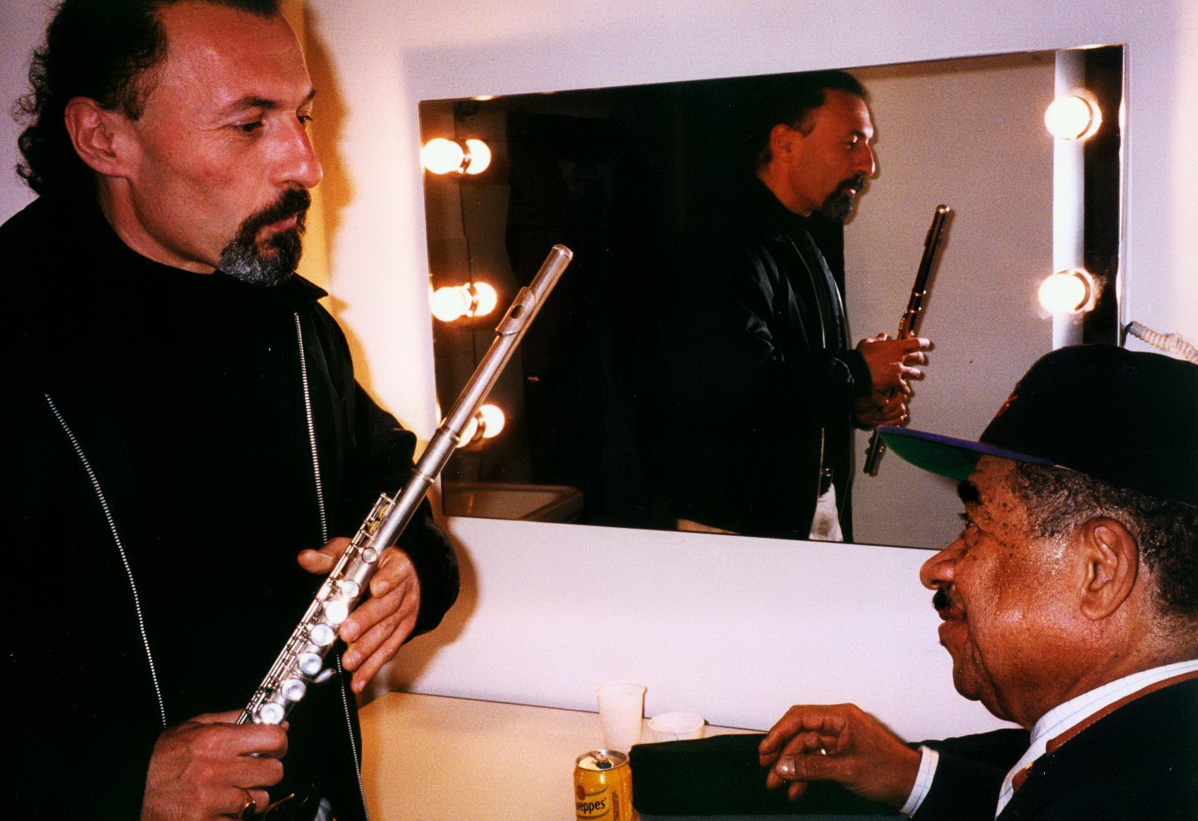 with Frank Wess, 2000