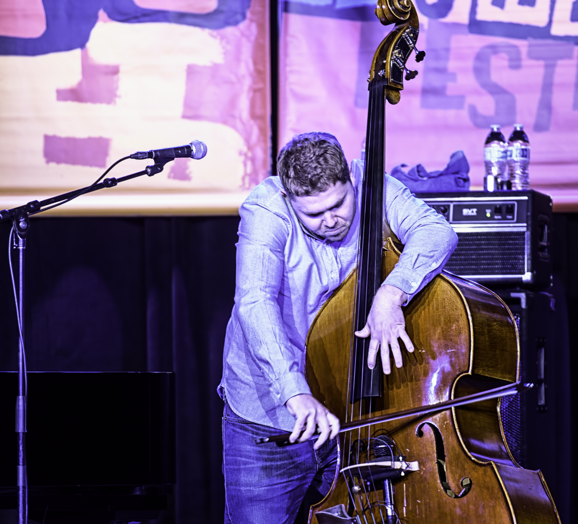 Nick Blacka with GoGo Penguin at the Monterey Jazz Festival