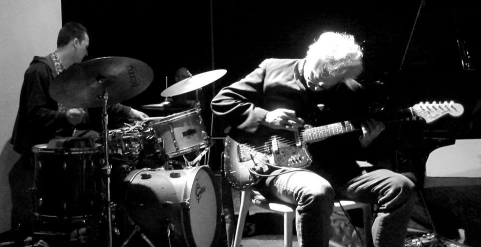 George Spanos with Marc Ribot at The Stone, NYC.