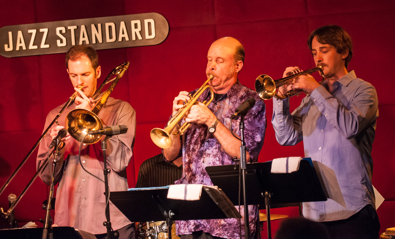 Joel Yennior, Tom Halter and Dan Rosenthal with the Either/Orchestra at the Jazz Standard