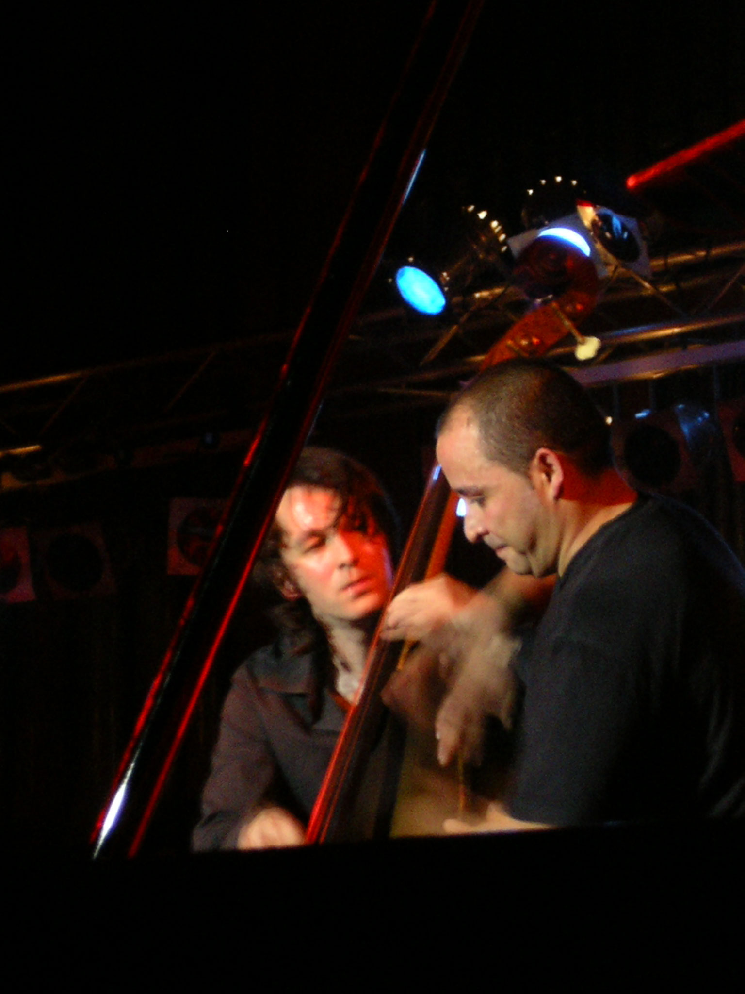 Pablo Martin + Cepillo (Gerardo Nunez Group) Playing on One Double Bass at Jazz+ Festival'2006 (Sofia, Bulgaria)
