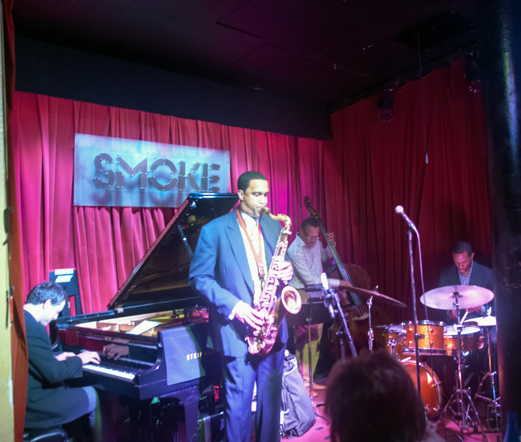 Jeremy Manasia, Javon Jackson, David Williams and Willie Jones Iii at Smoke Jazz Club in New York City