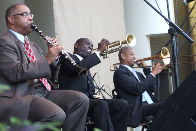 2006 Chicago Jazz Festival, Friday: Dr. Michael White, Greg Stafford, Lucien Barbarin with the Original Liberty Jazz Band