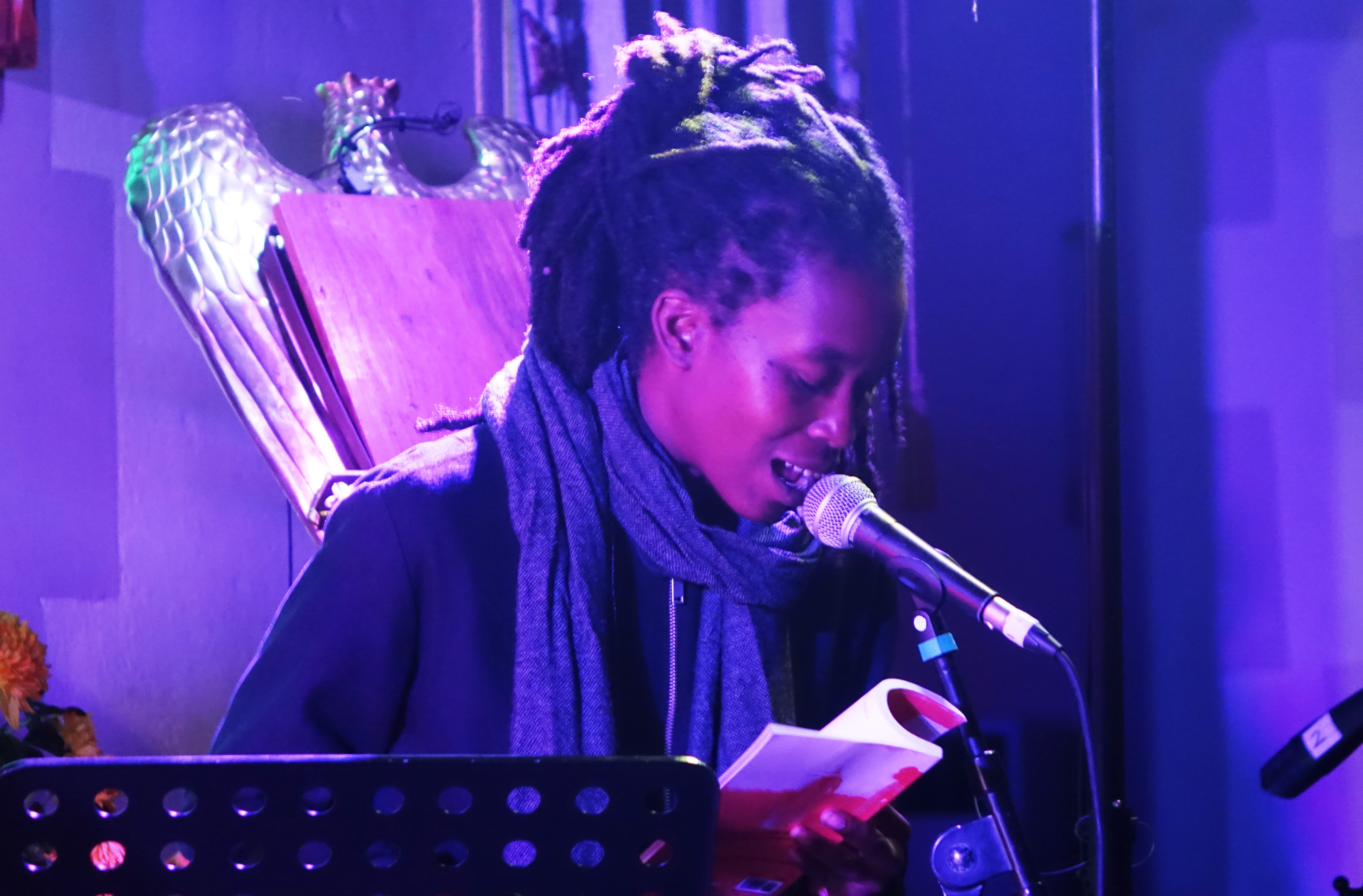 Camae Ayewa at Brighton Alternative Jazz Festival in October 2018