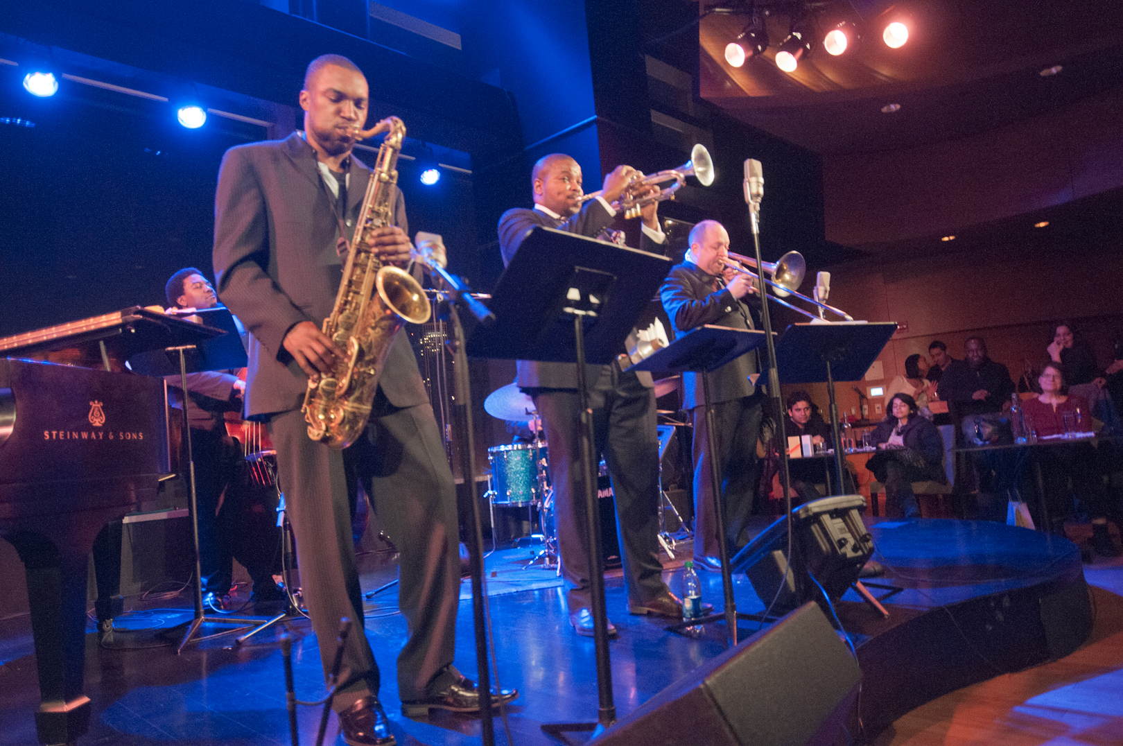 Stacy Dillard, Jeremy Pelt and Steve Davis with Willie Jones III Sextet Presents the Music of Max Roach at Dizzy's